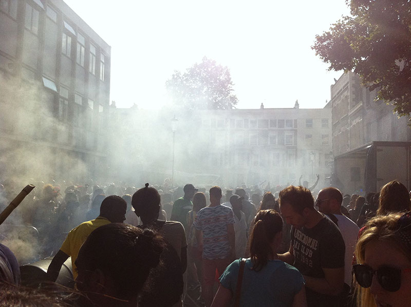 The smoke and smells of Notting Hill