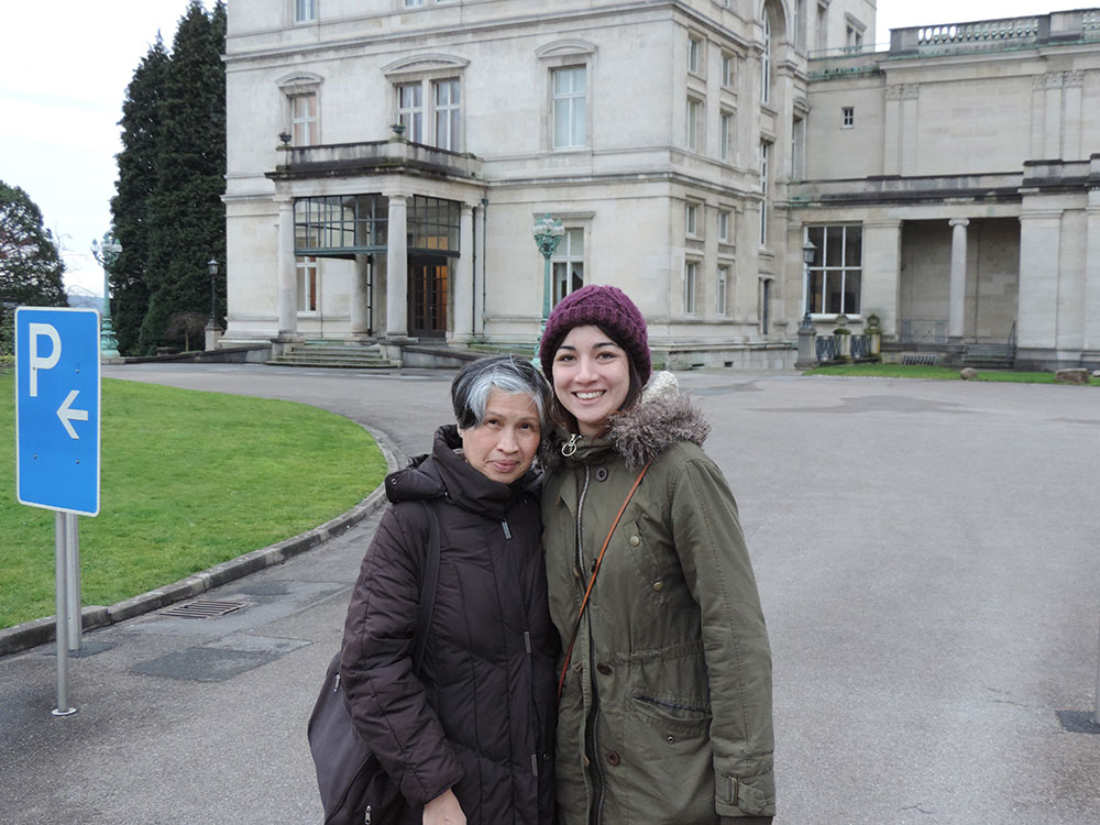 Me and my Aunt in front of the Villa
