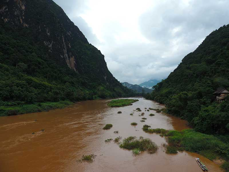 Nong Khiaw river view
