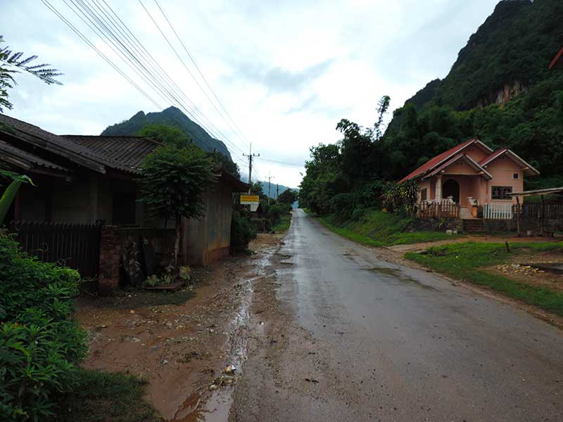 Empty Nong Khiaw street