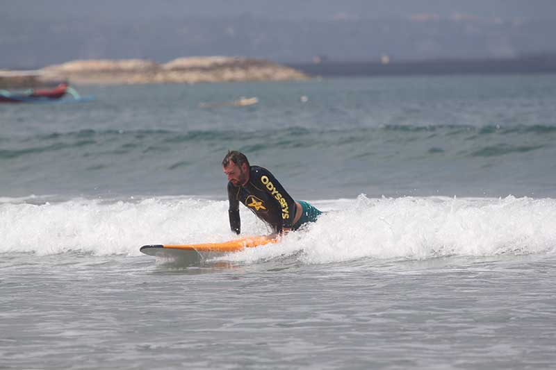 Greg Surfing in Bali