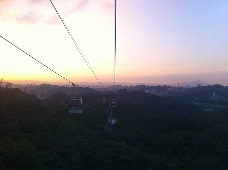 Sunset from Maokong Gondola