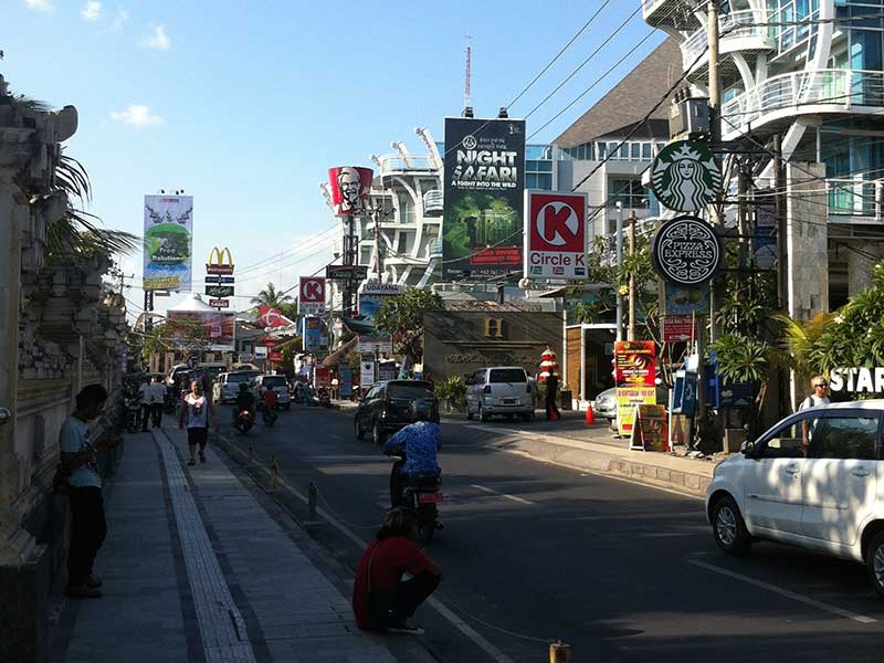 Kuta is intensively developed