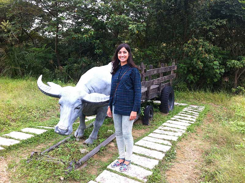 Katy with Ox Statue