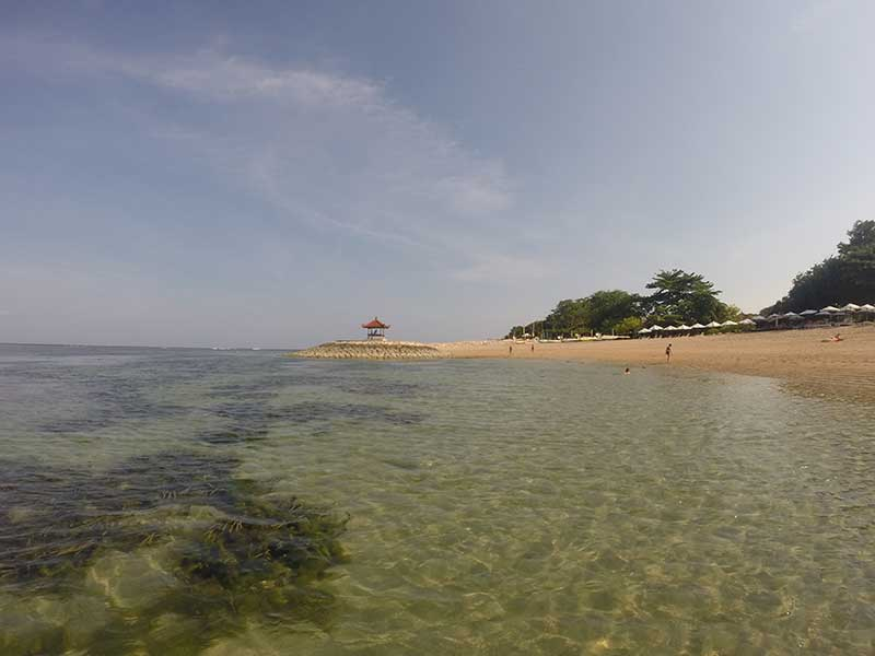 Sanur - Probably the clearest water in Bali