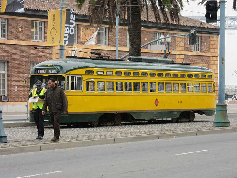 One of the streetcars - they are all different as they have been bought from similar systems around the world