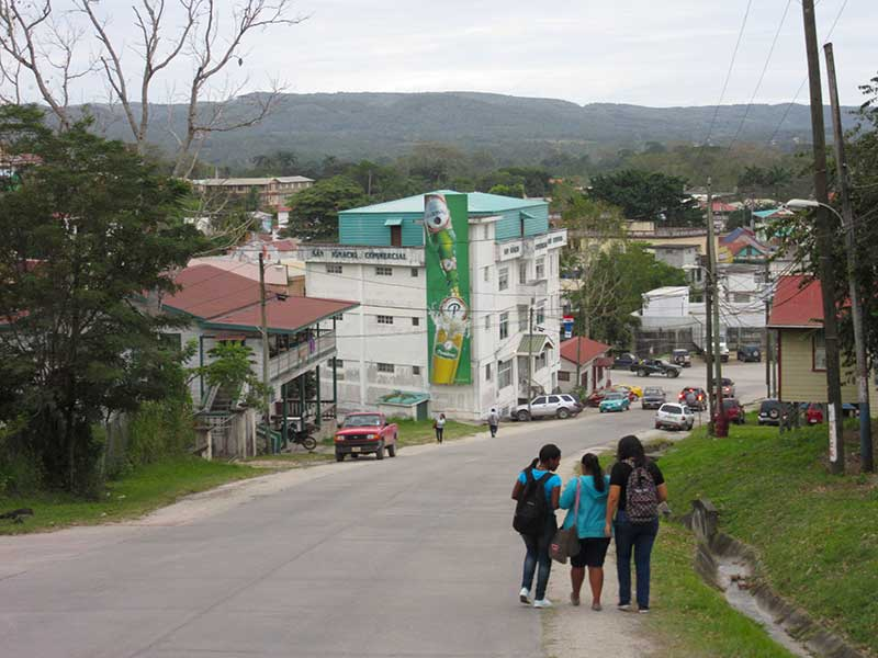 Looking down the hill into San Ignacio town. Old House is the, well, old house on the left