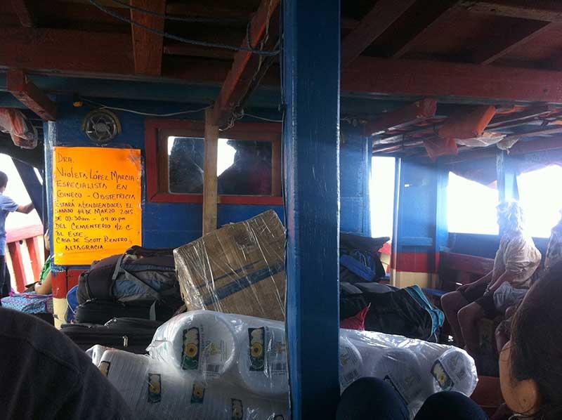 Cramped boat