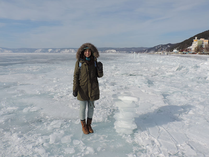 On the frozen lake