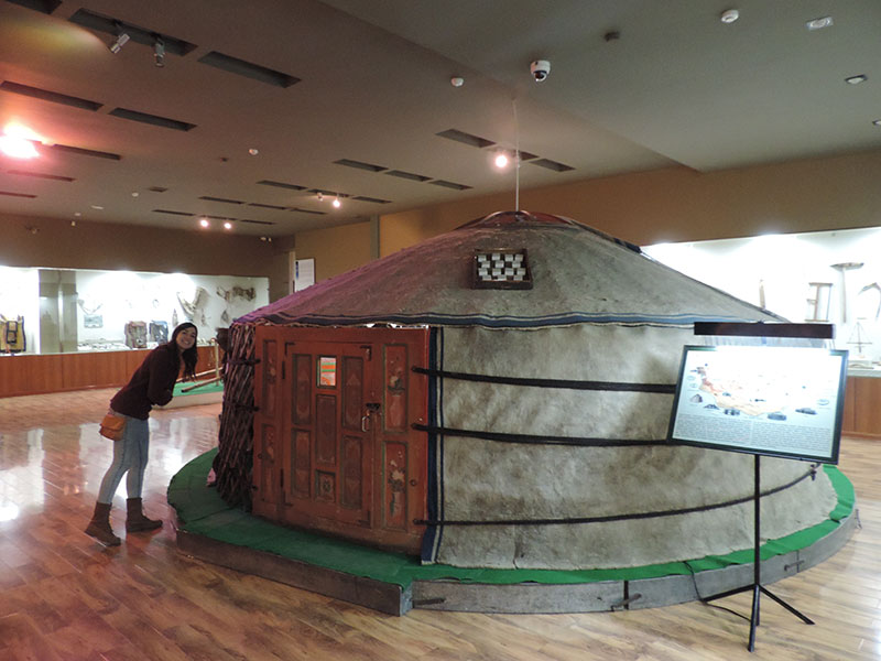 Sadly our only experience of a yurt in Mongolia!