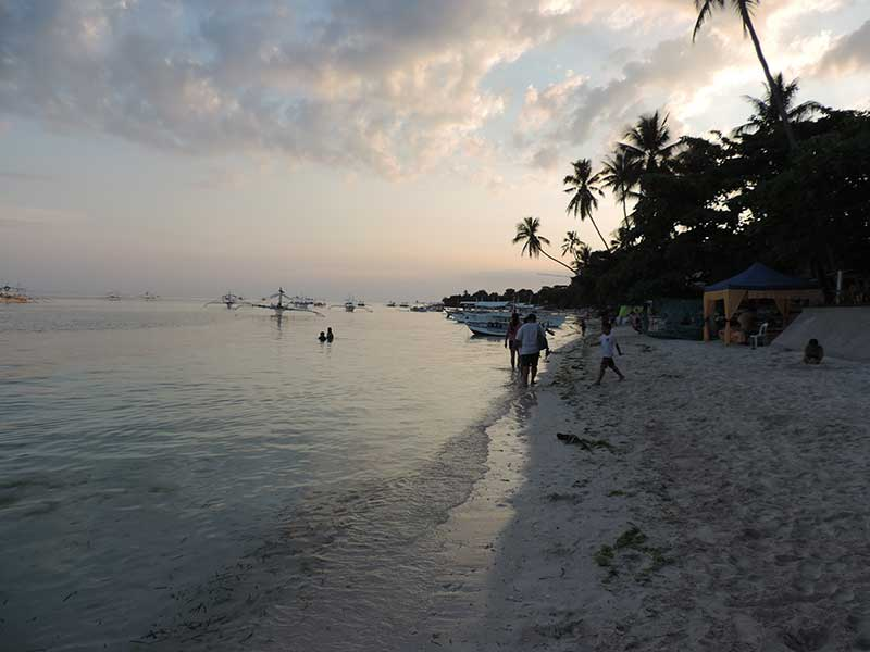 Alona Beach at sunset