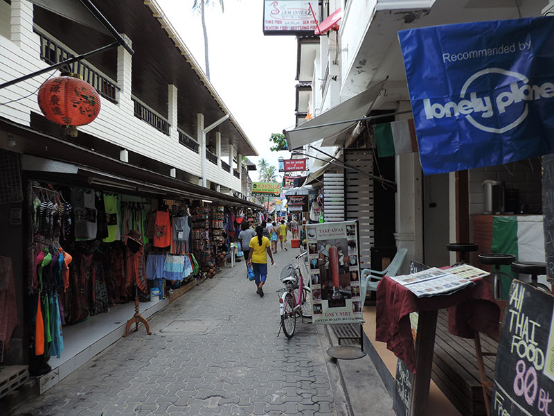 A typical street on Phi Phi