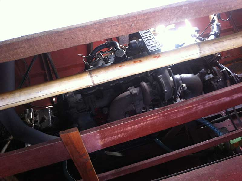 Yes, a truck engine in a boat