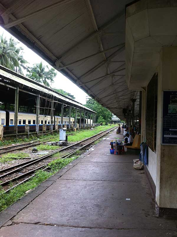 Yangon central train station. You wouldn't know it