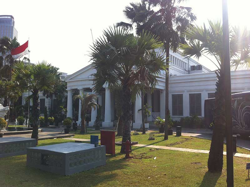 The national museum looks like a villa!