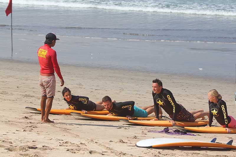 Learning Surfing in Bali