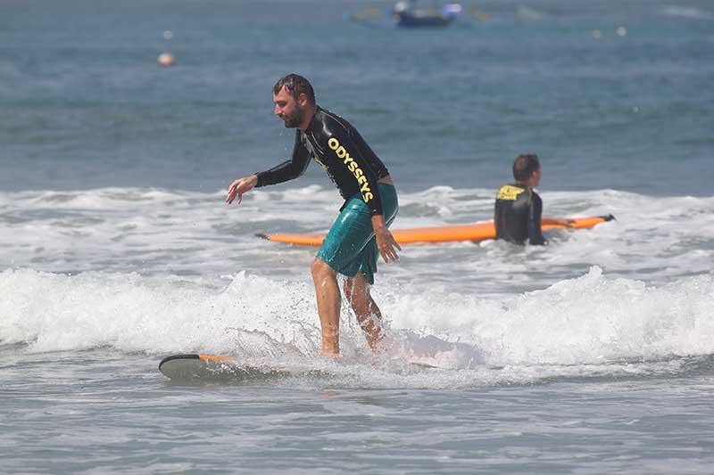 Greg Surfing In Bali