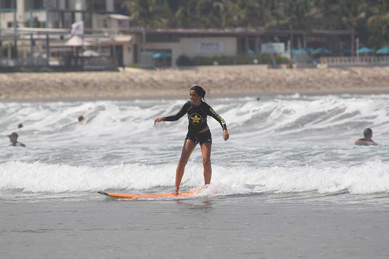 Katy Surfing In Bali