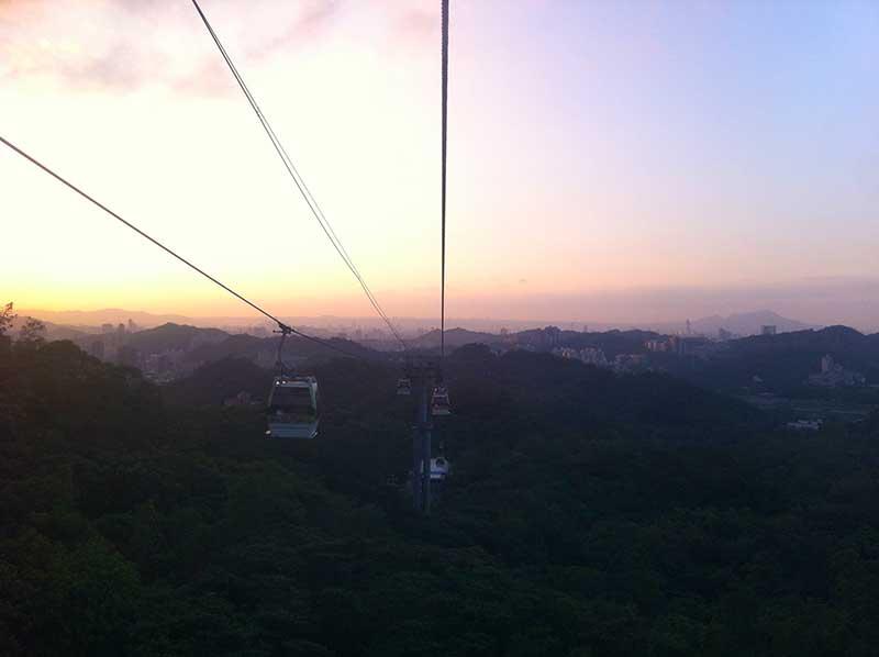 Sunset from Maokong Gondola
