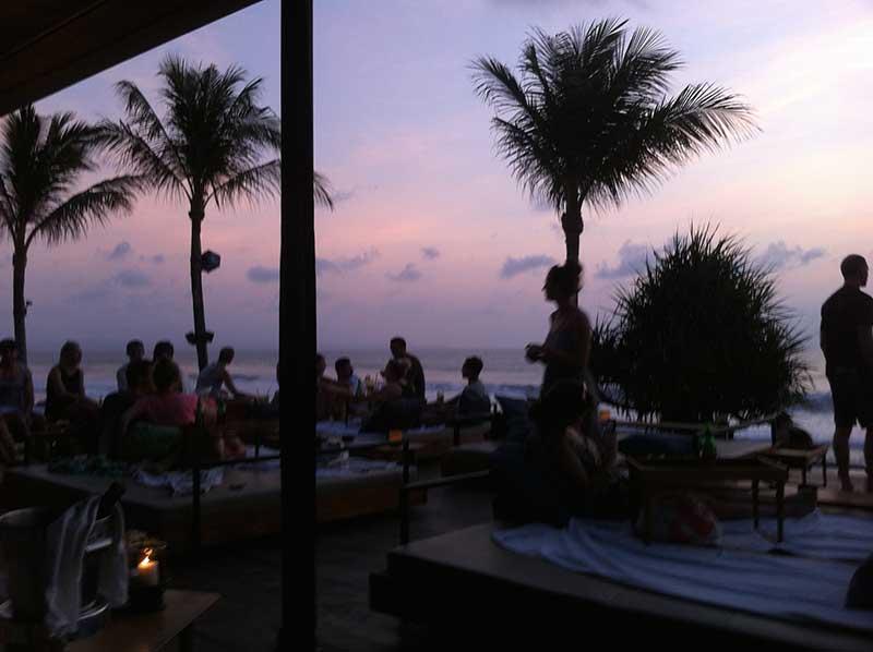 Sunset cocktails at Potato Head bar - really cool bar, but still not cheap