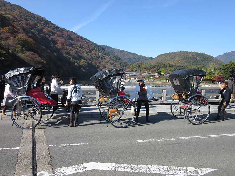 Traditional Kyoto transportation for a ridiculous price