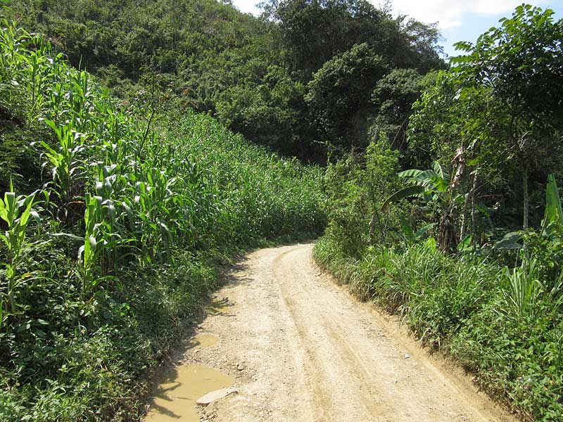 This is the road from the hostel to Semuc. As we said, remote